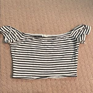 Garage stripped Cropped Top